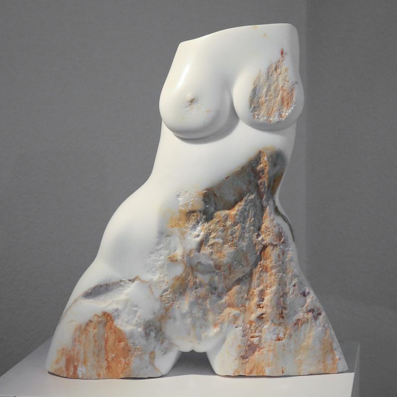 """""""Schmerz"""", Unikat, Marmor, 2004, Maße: 55 x 22 x 61,4 cm"""